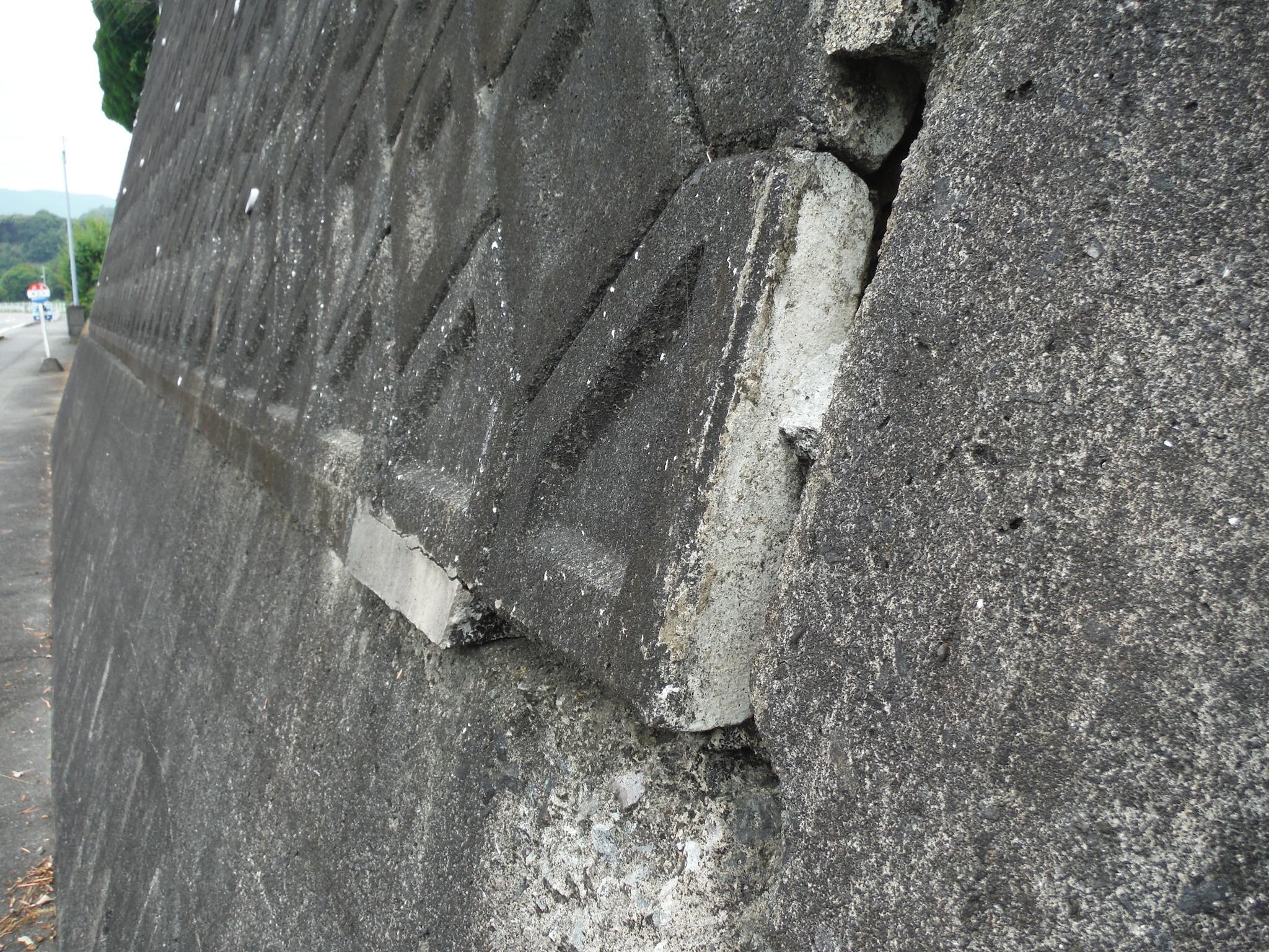 擁壁の変状調査のイメージ